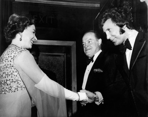 Queen Elizabeth with Tom Jones and Bob Hope at a benefit dinner for the World Wildlife Fund1970 - Image 0173_0632