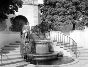 Harold LLoyd in front of his estate Green Acres, c 1930. Photo by Gene Kornman  ** I.V. - Image 0198_0614
