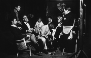 """Efrem Zimbalist, Jr. with Edd """"Kookie"""" Byrnes and the cast of """"77 Sunset Strip,"""" January 15, 1961. © 1978 Sid Avery MPTV - Image 0286_0005"""