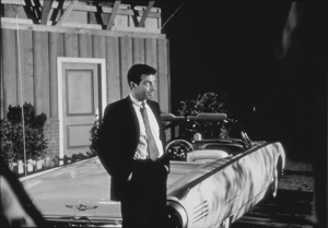 "Efrem Zimbalist, Jr. on the set of ""77 Sunset Strip,"" January 15, 1961. © 1978 Sid Avery MPTV - Image 0286_0184"