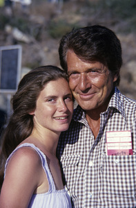 Efrem Zimbalist Jr. and his daughter Stephanie Zimbalist1978© 1978 David Sutton - Image 0286_0200