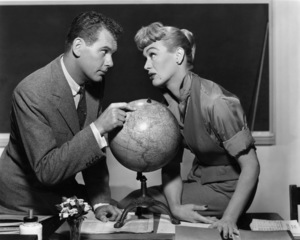 """Eve Arden and Robert Rockwell in """"Our Miss Brooks""""1956 Warner BrothersPhoto by Bert Six - Image 0287_0116"""