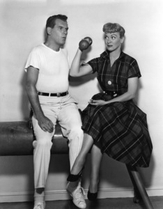 """Eve Arden and Robert Rockwell in """"Our Miss Brooks""""1956 Warner BrothersPhoto by Bert Six - Image 0287_0131"""