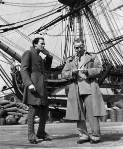 """Gregory Peck, And Director Raoul Walsh""""Captain Horatio Hornblower""""1951 Warner Brothersphoto By Bert Six - Image 0288_0103"""