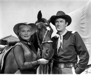 """Gregory Peck, and Barbara Payton""""Only The Valiant""""1951 Warner Brothersphoto By Jack Woods - Image 0288_0104"""