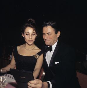 Gregory Peck and his wife Veronique Passanicirca 1958© 1978 Bernie Abramson - Image 0288_0194