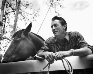 Gregory Peck at home, 1955 © 1978 Sid Avery - Image 0288_0213