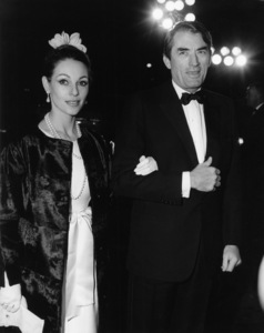 """Gregory Peck with his wife, Veronique, at the premiere of """"Doctor Zhivago""""1965** J.S.C. - Image 0288_0217"""