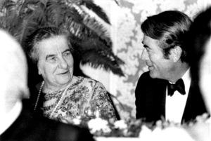 Gregory Peck and Golda Meir,Prime Minister of IsraelOctober 2, 1969 - Image 0288_0224