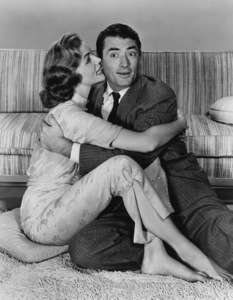 """Lauren Bacall and Gregory Peck in """"Designing Woman""""1957** B.L. - Image 0288_0248"""
