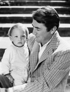 Gregory Peck and his son Anthony1958© 1978 John Engstead - Image 0288_0252