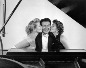 """Lee Liberace with Dorothy Malone and Joanne Dru in """"Sincerely Yours""""1955 Photo by Bert Six - Image 0289_0037"""