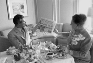 Lee Liberace and his mother in a hotel room in San Francisco1955 © 1978 Bob Willoughby - Image 0289_0377