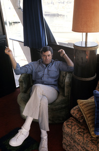 Jerry Lewis aboard his 60 foot yacht Princess Two1972 © 1978 Gunther - Image 0292_0508