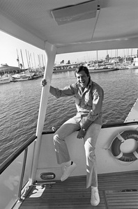 Jerry Lewis aboard his 60 foot yacht Princess Two1972 © 1978 Gunther - Image 0292_0553