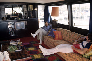 Jerry Lewis aboard his 60 foot yacht Princess Two1972 © 1978 Gunther - Image 0292_0560