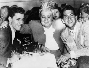 Jerry Lewis, Sophie Tucker and Dean Martin at the 500 Club in Atlantic City (the first week Lewis and Martin got together)1946** I.V. / M.T. - Image 0292_0616