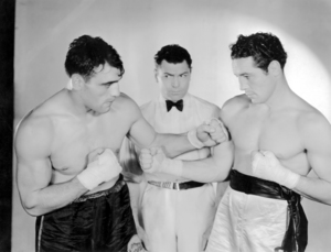 """Primo Carnera, Jack Dempsey and Max Baer in """"The Prizefighter and the Lady""""1933 MGM** I.V. / M.T. - Image 0296_0003"""