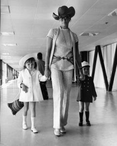 Joan Collins and her children (Tara and Sacha) at London