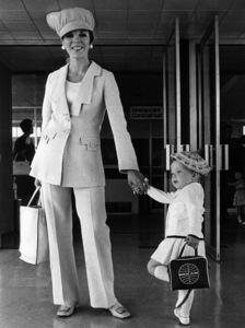 Joan Collins with her daughter, Tara, at London