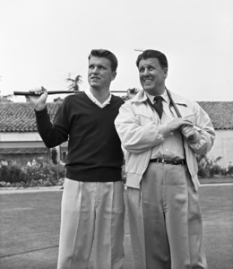 George Stevens with son George Stevens Jr. at Lakeside Golf Course in Burbank, California1953 © 1978 Sid Avery - Image 0300_0402