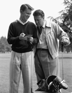George Stevens with son George Stevens Jr. at Lakeside Golf Course in Burbank, California1953 © 1978 Sid Avery - Image 0300_0403