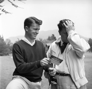George Stevens with son George Stevens Jr. at Lakeside Golf Course in Burbank, California1953 © 1978 Sid Avery - Image 0300_0423