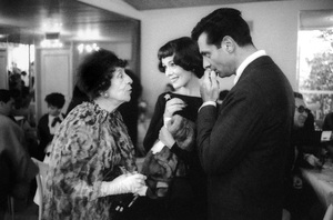Mort Sahl with Phyllis Kirk at a Harper