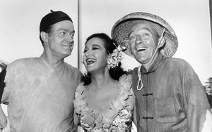 "Dorothy Lamour with Bob Hopeand Bing Crosby in a publicity shot for""Road to Bali""1952 - Image 0316_0040"