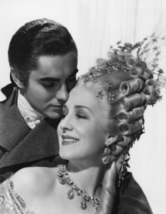 """Tyrone Power and Norma Shearer from the film """"Marie Antoinette""""  1938  Photo by Laszlo Willinger - Image 0319_0025"""