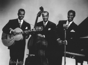 """Nat King Cole with Johnny Miller and Irving Ashby""""The Nat King Cole Trio""""circa 1947 © 1978 Maurice Seymour - Image 0321_0195"""