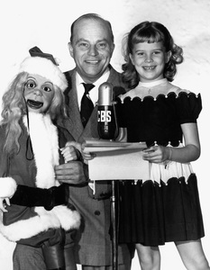 Edgar Bergen with daughter Candice and Charlie McCarthycirca 1956Photo by Gabi Rona - Image 0322_0005