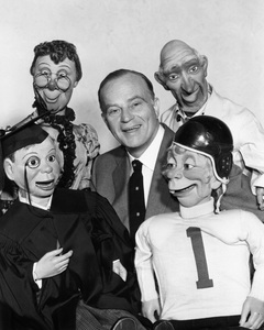 Edgar Bergen with Charlie McCarthy, Mortimer Snerd, Effie Klinker and Elmer Fudd1955Photo by Gabi Rona - Image 0322_0062