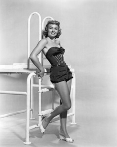 """Donna Reed poses for """"Trouble AlongThe Way,"""" 1953. - Image 0323_0101"""