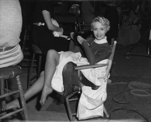 """Jane Powell on the set of """"Three Sailors and a Girl""""1953 Warner BrothersPhoto by Jack Albin - Image 0328_0195"""