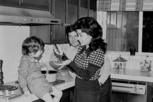 Annette Funicello with husband Jack Gilardi and son at home, c. 1972 © 1978 Chester Maydole - Image 0330_0134