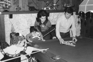 Annette Funicello with husband Jack Gilardi and kids at home, c. 1972 © 1978 Chester Maydole - Image 0330_0135