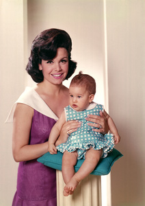 Annette Funicello with her daughter Ginacirca 1966 © 1978 John Engstead** I.V. - Image 0330_0142