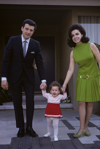 Annette Funicello with husband Jack Gilardi and daughter Gina1967© 1978 Gene Trindl - Image 0330_0181