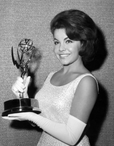Annette Funicello accepting an Emmy Award on behalf of Walt DisneyMay 26, 1963** B.D.M. - Image 0330_0184
