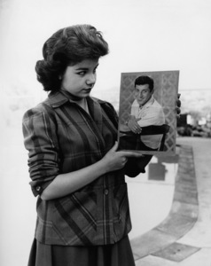 Annette Funicello at home admiring Paul Anka photocirca 1960sPhoto by Joe Shere - Image 0330_0185