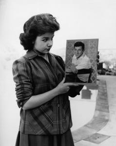 Annette Funicello at home admiring Paul Anka photocirca 1960sPhoto by Joe Shere - Image 0330_0185
