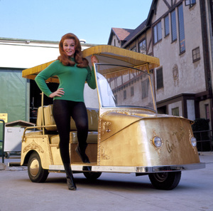Ann- MargretAnd her custom golf cart on the Paramount lot1966 Photo By Mel Traxel - Image 0332_0257