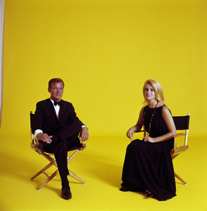 """Ann-Margret and John Gary during an album cover session for """"Hits From His Broadway Hits""""1964© 1998 Ken Whitmore - Image 0332_0287"""