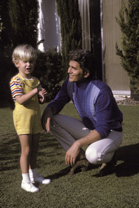 Michael Landon at home with son1968 © 1978 David Sutton - Image 0334_0120