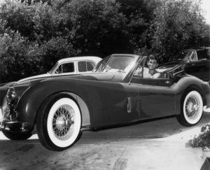 Michael Landon with his 1955 Jaguar XK140 Circa 1956 Photo By Joe Shere - Image 0334_0201