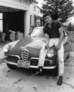 Michael Landonwith his 1955 Alfa Romeo Giulietta SprintCirca 1956Photo By Joe Shere - Image 0334_0202