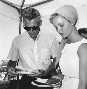 Tuesday Weld and Tab Hunter at Pat Boone