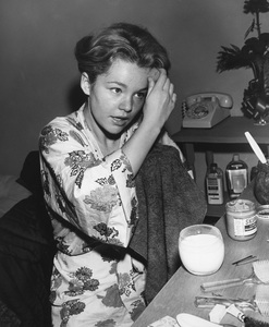 Tuesday Weld at make-up tablecirca 1959Photo by Joe Shere - Image 0335_0363