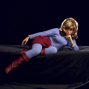 """Nancy Sinatra posing for what would become the cover of her album, """"Boots""""1966© 1978 Ed Thrasher - Image 0336_0215"""